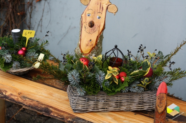 kerststukjes, rendier en kaboutertje