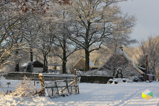 sneeuw in Tiendeveen