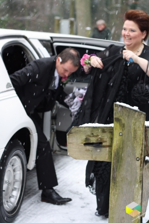 bruiloft in de sneeuw