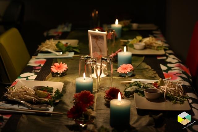 Aziatisch gedekte tafel 2