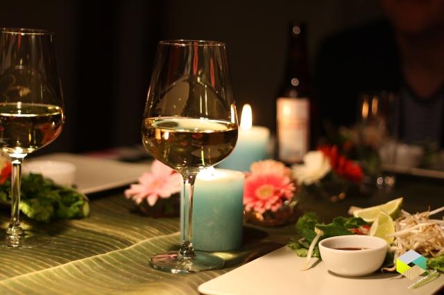 Aziatisch gedekte tafel