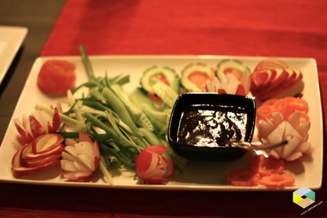 groente en saus voor bij de Pekingeend